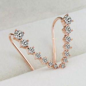 New Crystal Rhinestone Crawler Earrings